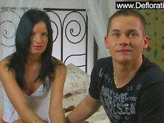 Small titted Natasha Pushkina enjoying big cock