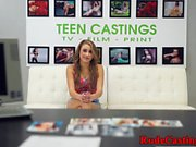 Facialized teen loves hardfucking at casting