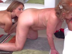 Granny and mom fuck young fresh meat