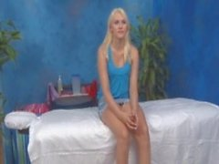 18 year old blonde gets a special massage