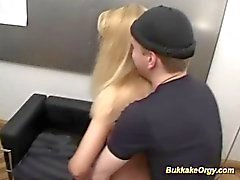 german Blonde gets massive bukake