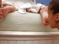 Danicas foot threesome