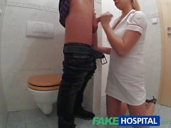 FakeHospital Nurse sucks dick for sperm sample