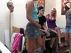 Two hot babes very like smoking dick