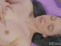 MOM Lez MILF plays with young girls shaved pussy