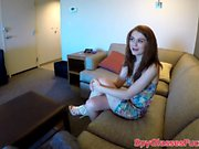 Real amateur teen fucked deeply in POV