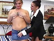 Catfight with two hot broads