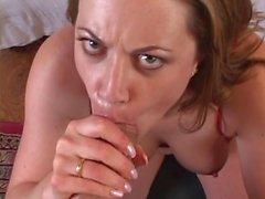 Big cock fucks the horny whore