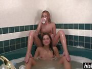 Awesome lesbians try out big toys