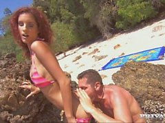 Leanna Has Hardcore Anal Sex on the Beach with Her Lover
