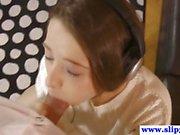 Cute brunette Russian teen gets a close up fuck.