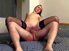 Young Libertines - Blonde teen in nylons fucking