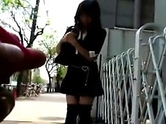 Teen Asian giving a blowjob POV