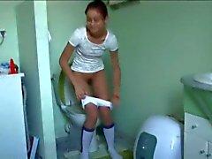 portuguese Natasha at water closet