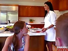 Lovely hot babes India Summer and Kacy Lane love threesome