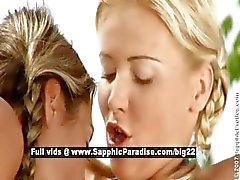 Daria and Christie lesbo babes fingering