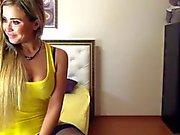 stunning blond in stockings