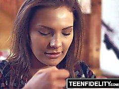 TEENFIDELITY - Creampie Surprise From Stepdad