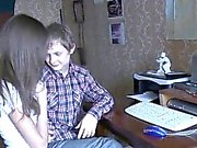 Our skillful teen chick does her best to please her partner