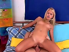 Neat chick gets nailed doggystyle then rides huge ramrod