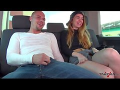 Takevan - Extremely hard way to drill blonde polish teen in van