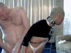 Total humiliation: shaved bald, painal fucked, shackled
