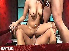 Stripper rides two poles
