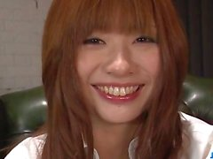 Mami Yuuki throats cock and swallows in the