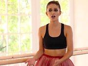 Bendy Ballerina Sucks and Fucks Her Teacher's Cock