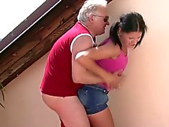Horny dad bangs his son's gf