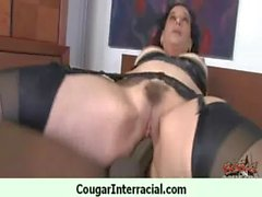 Cougar With Huge Tits Fucked By a Young Black Teen 19