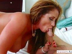 Mature MILF Eva Notty Fake Step Mom loves big step sons cock