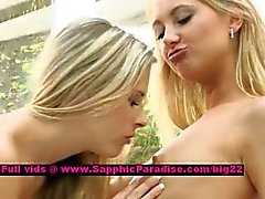 Lena and Claire lusty lesbian dolls licking