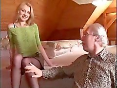 Russian Girl and Old Man