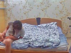 Camera caught babe trimming her pussy