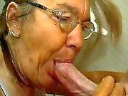 Scrawny Old Granny Does Like A C...