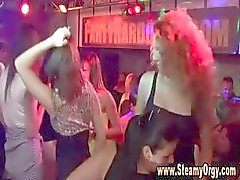 Hot babes in prague get down and dance with male strippers