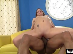 Sexy brunette gets fucked in hardcore fashion