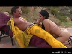 Tommy Gun creampie a girl outdoor
