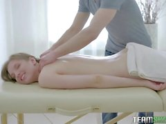 Sexy Teen Callie Gets Massage With Cumshot