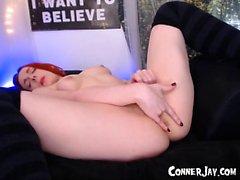 Kinky curly amateur redhead teen twerking her ass