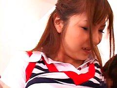Japanese teen sauna blowjob