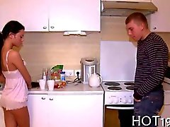Kinky cuckold watches his girlfriend moan and groan