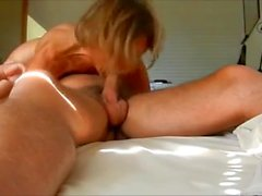 Shaggy tits auntie eat cock