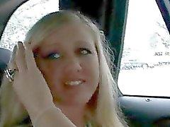 Cute blonde chick blows a fat boner for few dollars
