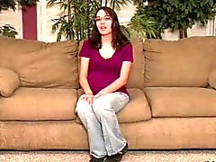 HOT GIRL n140 pregnant anal brunette teen glasses and dildoo