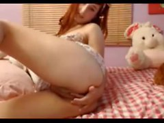 Cute Teen strips on Webcam