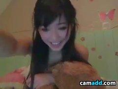 Skinny Asian Girl Teasing