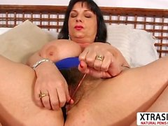 Voluptuous Not Step Mom Elektra Lamour Bangs Good Tender Son's Friend