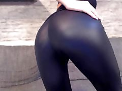 neues video! leder leggings